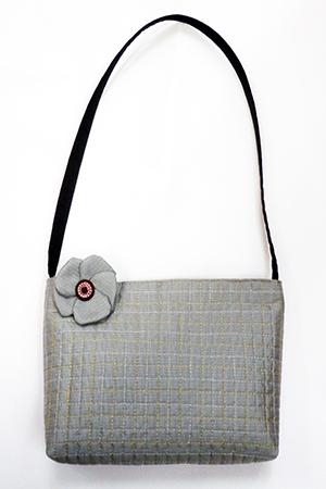 大島紬のショルダーバッグ