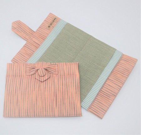 大島紬の大切なもの入れ(ピンク)