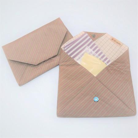 大島紬の数寄屋袋(ストライプ)