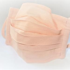 東郷オリジナル/綿絹織物のエチケットマスク(サクラ色)