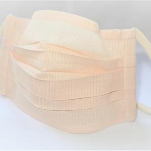 東郷オリジナル/綿絹織物のエチケットマスク(ピーチ)