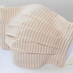 東郷オリジナル/綿絹織物のエチケットマスク(ストライプラベンダー)