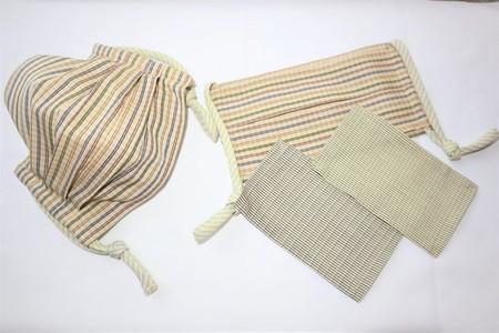 東郷オリジナル/綿絹織物のエチケットマスク(4色ボーダー)