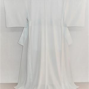 夏大島・仕立て上がり着物/ブルーと白の小格子