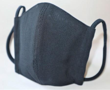 東郷オリジナル/夏大島シルクのクールマスク(インディゴブラック)