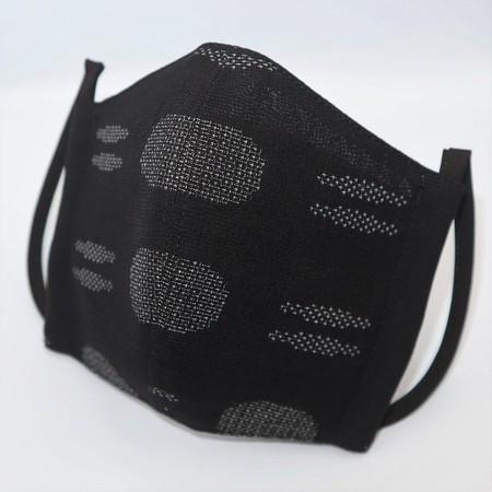 東郷オリジナル/夏大島シルクのクールマスク(手織り/さらさ紋様)