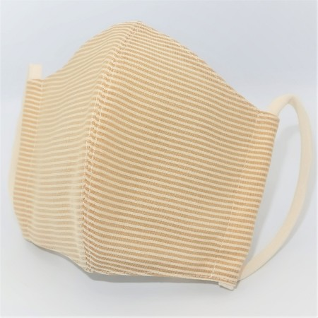 東郷オリジナル/夏大島シルクのクールマスク(キウイゴールド・B)