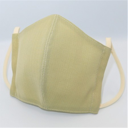 東郷オリジナル/夏大島シルクのクールマスク(ピスタチオグリーン)