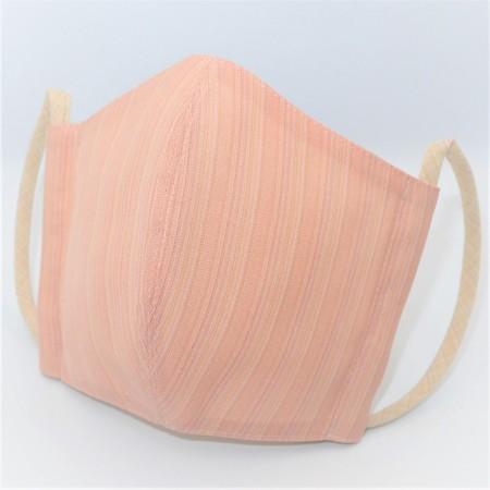 東郷オリジナル/夏大島シルクのクールマスク(彩りストライプ・ライトピンク)