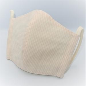 東郷オリジナル/夏大島シルクのクールマスク(シェルピンク)
