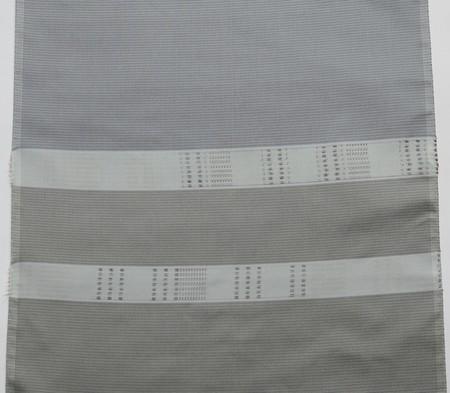 大島紬/みじん格子に絣の横段・二色使い
