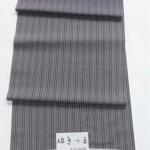 綿さつま絣/細縞に大きな横段
