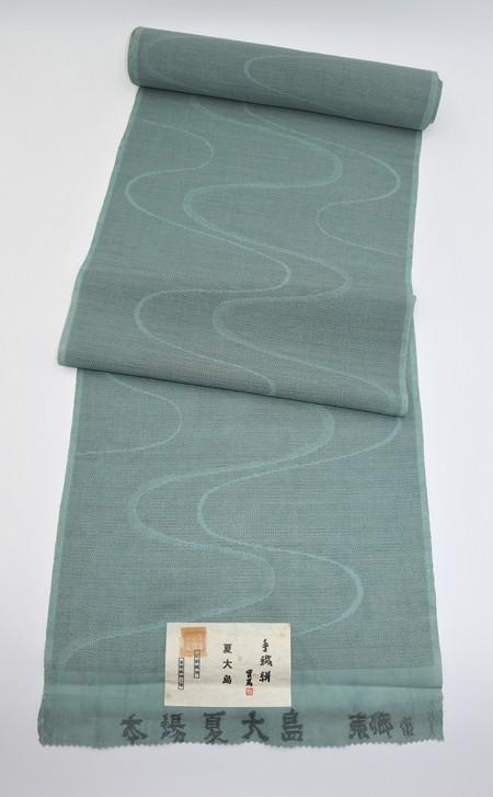 夏大島/手織り流水柄
