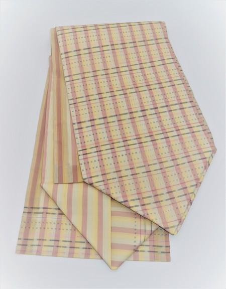 夏大島の名古屋帯/手織りポツ絣/ 東郷織物製
