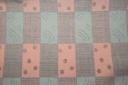 仮仕立て/手織りさつま絣の短冊柄