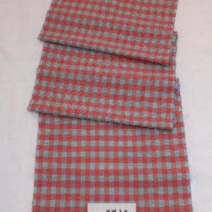 手織りポツ二色小市松