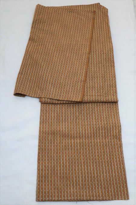 仮仕立て 手織りポツ縞柄