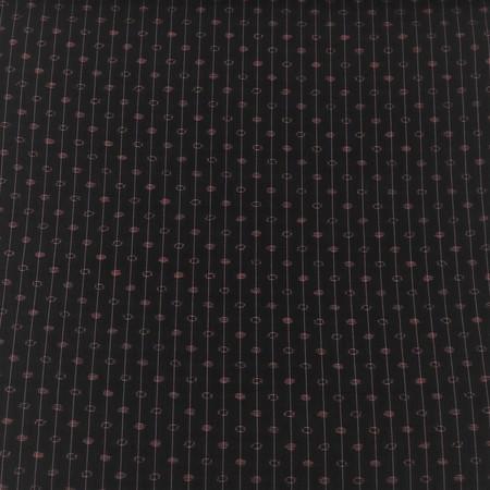 手織りさつま絣/斜水玉(黒)
