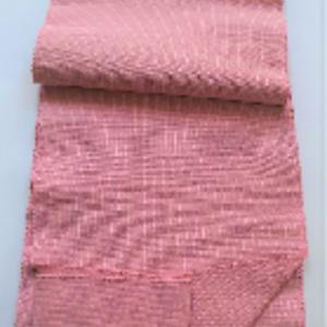 手織り木綿8寸帯(ピンク)/ 東郷織物製