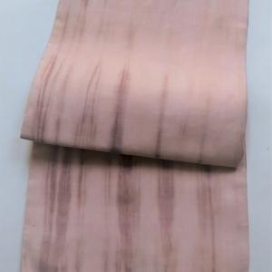 シルクオーガンジーの板締染め帯 / 名古屋帯